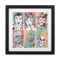 The Monster Mash - black-square-framed-print - small view