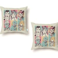 The Monster Mash - throw-pillow - small view