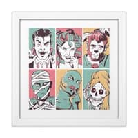 The Monster Mash - white-square-framed-print - small view