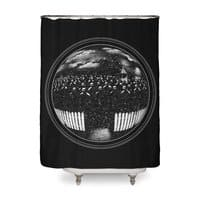 The Undead at My Doorstep - shower-curtain - small view