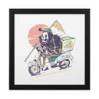 Reaper's Pizza - black-square-framed-print - small view