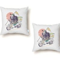 Reaper's Pizza - throw-pillow - small view
