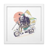Reaper's Pizza - white-square-framed-print - small view