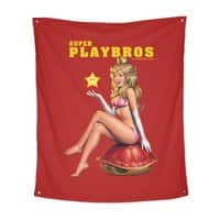 Super Playbros - indoor-wall-tapestry-vertical - small view