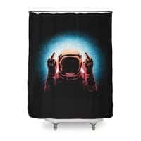 Negative Spaceman - shower-curtain - small view