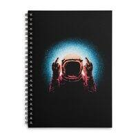 Negative Spaceman - spiral-notebook - small view