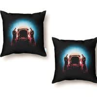 Negative Spaceman - throw-pillow - small view