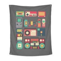 Retro Technology - indoor-wall-tapestry-vertical - small view