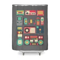 Retro Technology - shower-curtain - small view