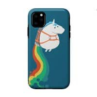 Fat Unicorn on Rainbow Jetpack - double-duty-phone-case - small view