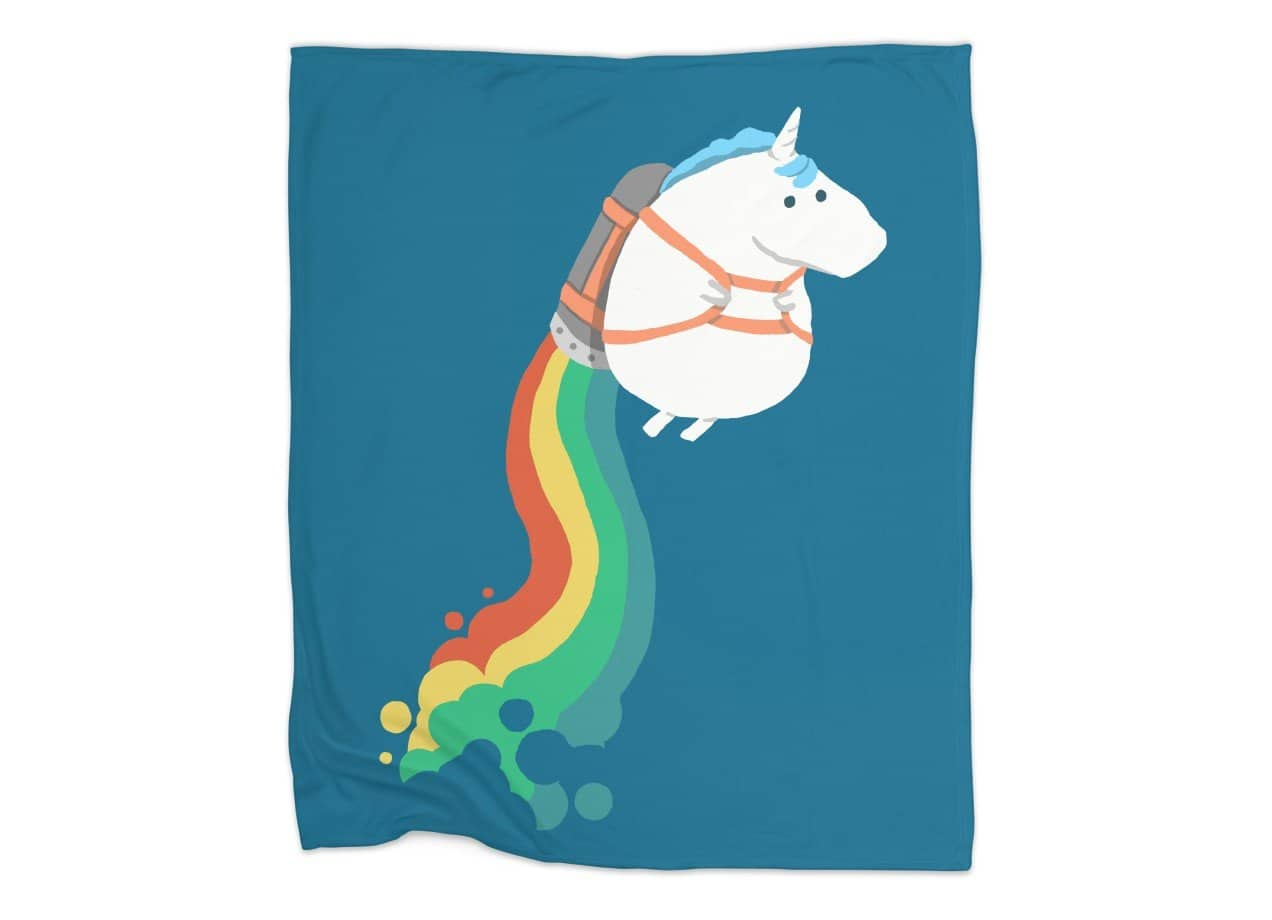 Fat Unicorn On Rainbow Jetpack By Radiomode Threadless