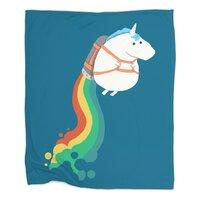 Fat Unicorn on Rainbow Jetpack - small view