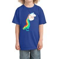 Fat Unicorn on Rainbow Jetpack - kids-tee - small view