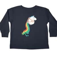 Fat Unicorn on Rainbow Jetpack - longsleeve - small view