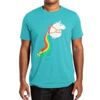 Fat Unicorn on Rainbow Jetpack - mens-extra-soft-tee - small view