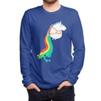 Fat Unicorn on Rainbow Jetpack - mens-long-sleeve-tee - small view