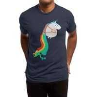 Fat Unicorn on Rainbow Jetpack - mens-triblend-tee - small view