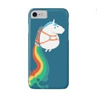 Fat Unicorn on Rainbow Jetpack - small view