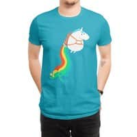 Fat Unicorn on Rainbow Jetpack - mens-regular-tee - small view