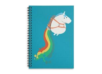 Fat Unicorn on Rainbow Jetpack