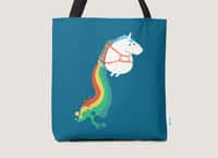 Fat Unicorn on Rainbow Jetpack - tote-bag - small view