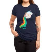 Fat Unicorn on Rainbow Jetpack - womens-triblend-tee - small view
