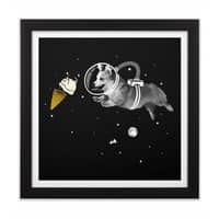 Corgi-naut - black-square-framed-print - small view