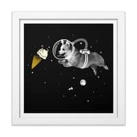 Corgi-naut - white-square-framed-print - small view