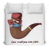 Not a Pipe - duvet-cover - small view