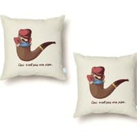 Not a Pipe - throw-pillow - small view