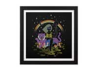 Psychedelic Sorceress - black-square-framed-print - small view