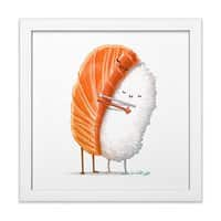 Sushi Hug - white-square-framed-print - small view