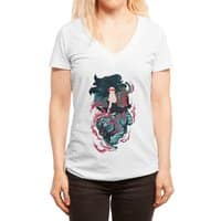 Beauty and the Beast - womens-deep-v-neck - small view
