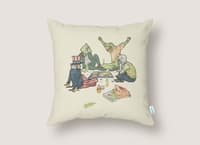 Plotting the Risky Agenda - throw-pillow - small view