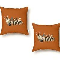 Abbey Zebra - throw-pillow - small view