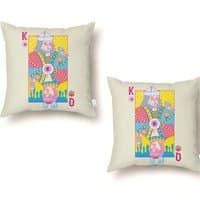 King of Nothing, Queen of Nowhere - throw-pillow - small view
