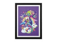 Rainbow Apocalypse - black-vertical-framed-print - small view