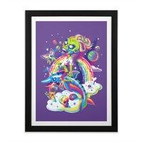 Rainbow Apocalypse - black-vertical-framed-print - small view