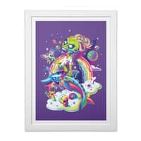 Rainbow Apocalypse - white-vertical-framed-print - small view