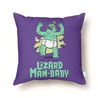 Lizard Man-Baby - throw-pillow - small view