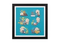 Crazy Dragon Lady - black-square-framed-print - small view