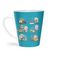 Crazy Dragon Lady - latte-mug - small view