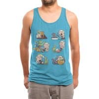 Crazy Dragon Lady - mens-triblend-tank - small view