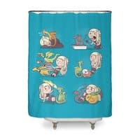 Crazy Dragon Lady - shower-curtain - small view