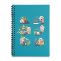 Crazy Dragon Lady - spiral-notebook - small view