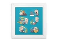 Crazy Dragon Lady - white-square-framed-print - small view