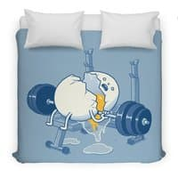 Weight Lifting Accident - duvet-cover - small view