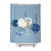 Weight Lifting Accident - shower-curtain - small view