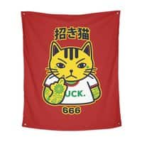 Unlucky Cat - indoor-wall-tapestry-vertical - small view