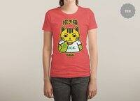 Unlucky Cat - womens-triblend-tee - small view